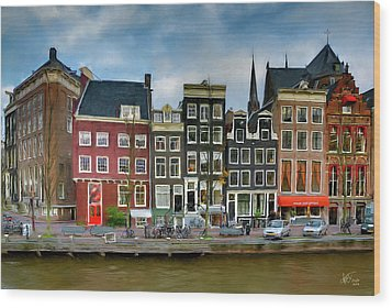 Wood Print featuring the photograph Herengracht 411. Amsterdam by Juan Carlos Ferro Duque
