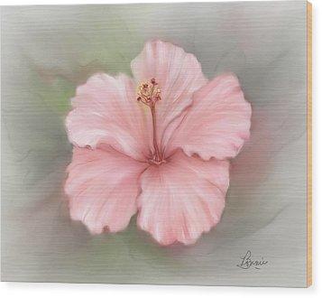 Hibiscus  Wood Print by Bonnie Willis