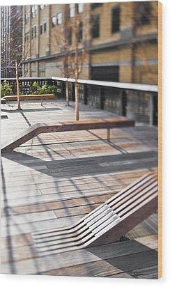 High Line Park Wood Print by Eddy Joaquim