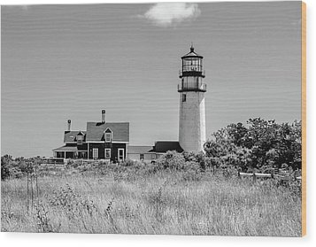 Wood Print featuring the photograph Highland Light - Cape Cod by Peter Ciro
