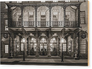 Wood Print featuring the photograph Historic Dock Street Theatre by Carl Amoth