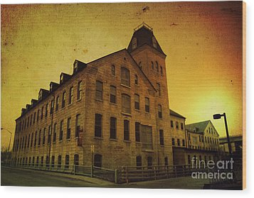 Historic Fox River Mills Wood Print by Joel Witmeyer