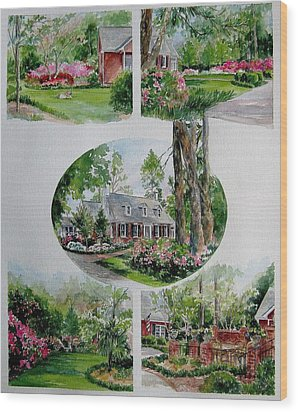 Wood Print featuring the painting Home Collage by Gloria Turner