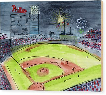 Home Of The Philadelphia Phillies Wood Print by Jeanne Rehrig