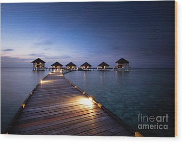 Wood Print featuring the photograph Honeymooners Paradise by Hannes Cmarits