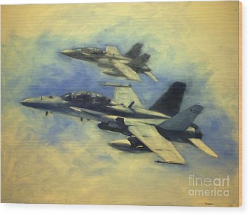 Hornets Wood Print by Stephen Roberson