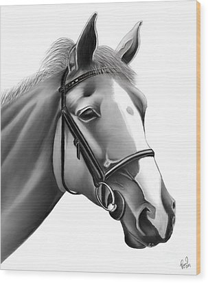 Horse Wood Print by Rand Herron