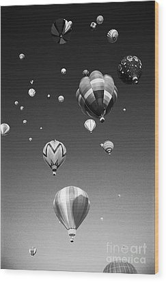 Hot Air Balloons Wood Print by Michael Howell - Printscapes
