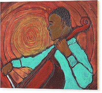 Hot Jazz Wood Print by Wayne Potrafka