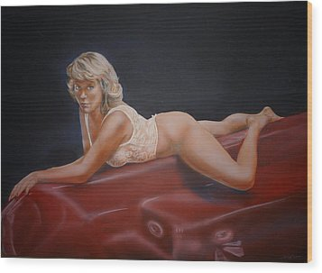 Hot Tub Wood Print by Bryan Bustard