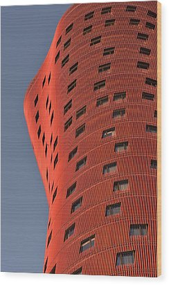 Hotel Porta Fira Barcelona Abstract Wood Print by Marek Stepan