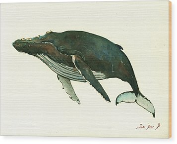 Humpback Whale  Wood Print by Juan  Bosco