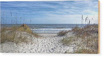 Huntington Beach South Carolina Wood Print