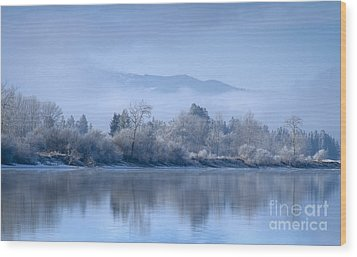 Icy Blue Wood Print by Idaho Scenic Images Linda Lantzy