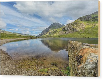 Wood Print featuring the photograph Idwal Lake Snowdonia by Adrian Evans