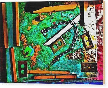 I'm Not The Same Person I Was At The Beginning Of This Sentence Wood Print by Contemporary Luxury Fine Art