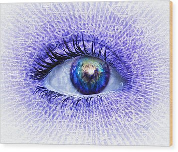 In The Eye Of The Beholder Wood Print by Robby Donaghey