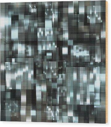 industrialLight 1 Wood Print by Harry Hunsberger