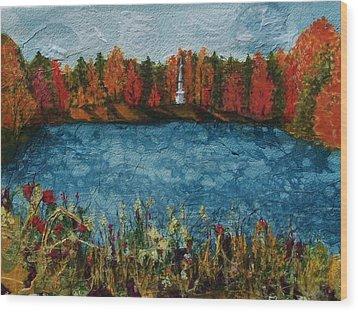 Institute Park Worcester Ma Wood Print by Lynn Babineau