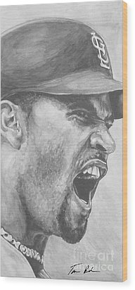 Intensity Pujols Wood Print