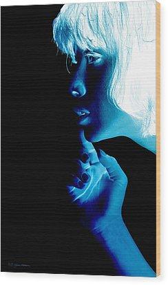 Inverted Realities - Blue  Wood Print