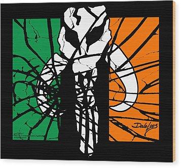 Irish Mandalorian Flag Wood Print by Dale Loos Jr