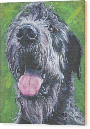 Irish Wolfhound Wood Print by Lee Ann Shepard