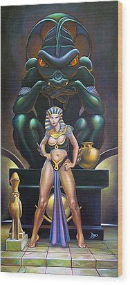 Isis And Osiris Wood Print by Patrick Anthony Pierson