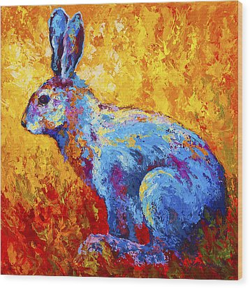 Jackrabbit Wood Print by Marion Rose