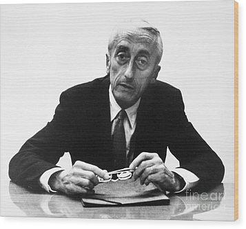 Jacques Cousteau (1910-1997) Wood Print by Granger