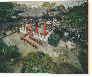 Wood Print featuring the photograph Jade Garden by Wayne Sherriff