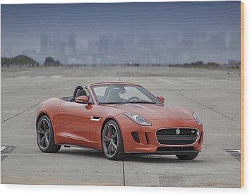 Jaguar F-type Convertible Wood Print