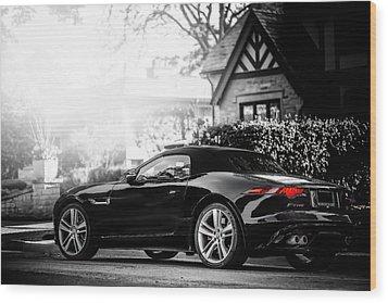 Jaguar F Type S  Wood Print by Darek Szupina Photographer