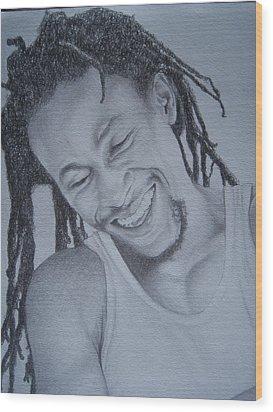 Jah Cure Wood Print by Jeffrey Samuels