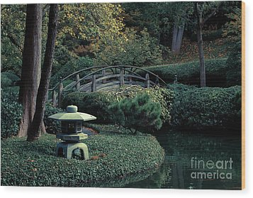 Wood Print featuring the photograph Japanese Garden In Summer by Iris Greenwell
