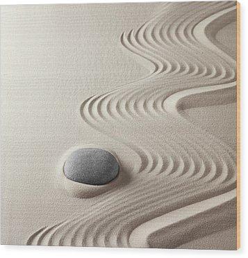 Japanese Zen Garden Wood Print