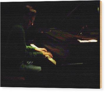 Jazz Estate 7 Wood Print by Anita Burgermeister