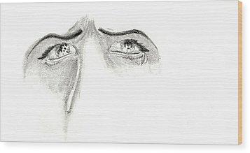 Je M'ennuie De Mon Amour  Wood Print