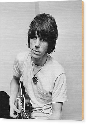 Jeff Beck 1966 Yardbirds Wood Print by Chris Walter