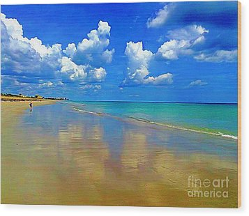 Jensen Beach  Wood Print