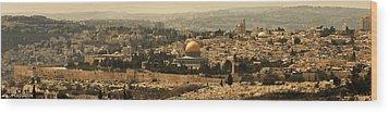 Jerusalem Wood Print by Amr Miqdadi