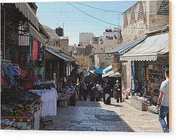 The Old City Of Jerusalem 1 Wood Print by Isam Awad