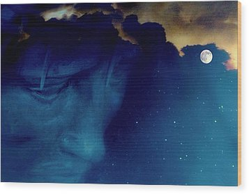 Jesus In The Night.. Wood Print by Al  Swasey
