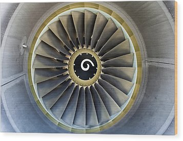 Jet Engine Detail. Wood Print by Fernando Barozza