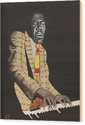 Jimmy Smith.king Of The Jazz Hammond B-3. Wood Print by Ken Zabel
