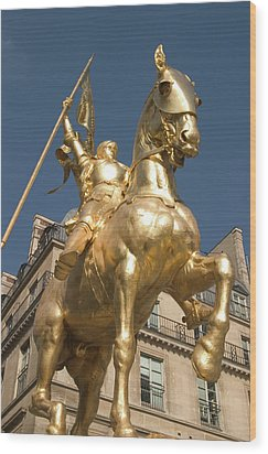 Joan Of Arc Wood Print by Carl Purcell