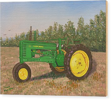 John Deere Model B Wood Print by Stan Hamilton