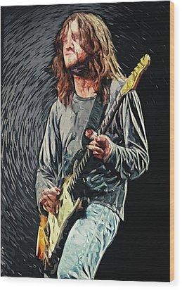John Frusciante Wood Print by Taylan Apukovska