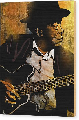 John Lee Hooker Wood Print by Paul Sachtleben