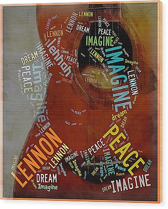 John Lennon Wood Print by Allen Beilschmidt